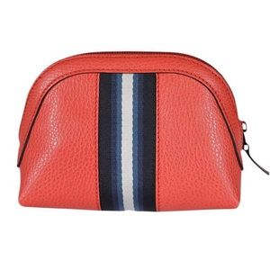 Authentic Gucci Leather Cosmetic Bag Coral Red